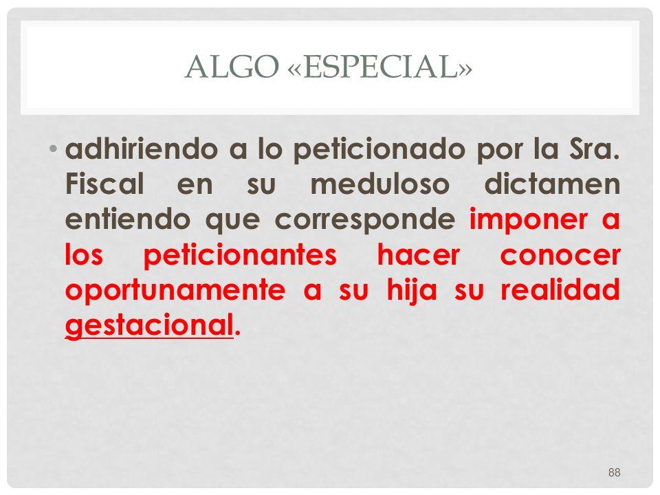ALGO «ESPECIAL»