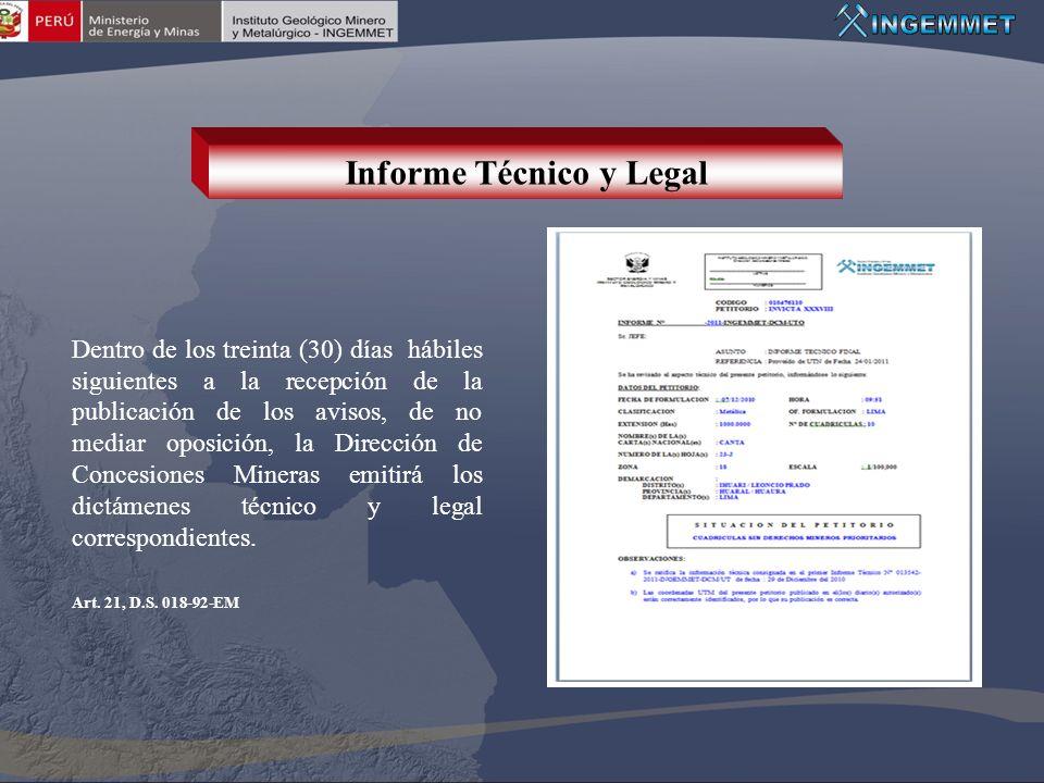 Informe Técnico y Legal