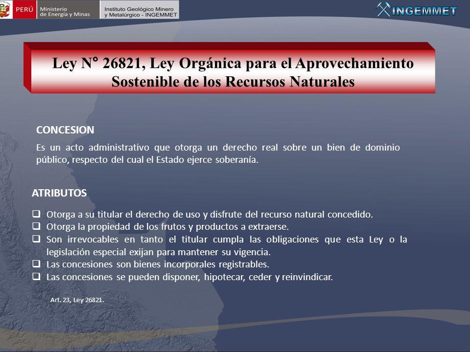 Ley N° 26821, Ley Orgánica para el Aprovechamiento Sostenible de los Recursos Naturales
