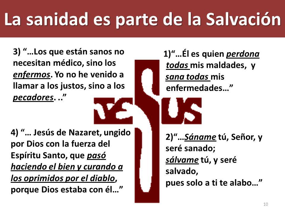 La sanidad es parte de la Salvación