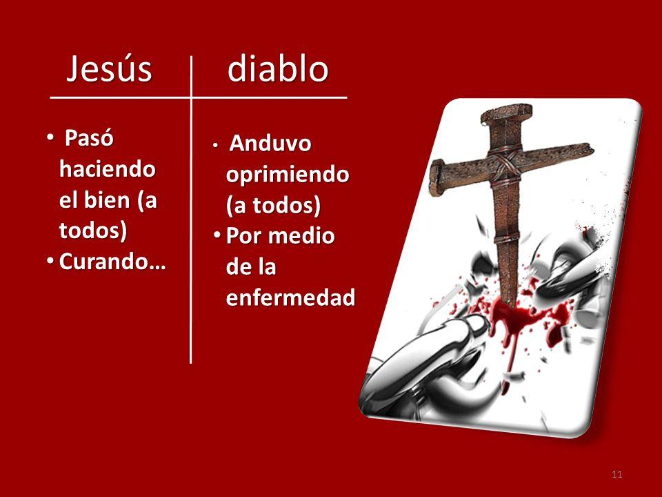 Jesús diablo Pasó haciendo el bien (a todos)