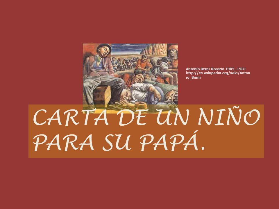 CARTA DE UN NIÑO PARA SU PAPÁ.