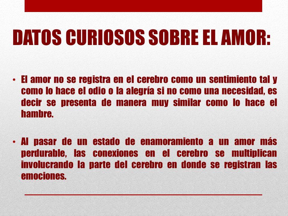 DATOS CURIOSOS SOBRE EL AMOR: