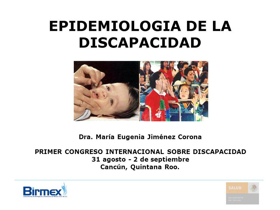 EPIDEMIOLOGIA DE LA DISCAPACIDAD
