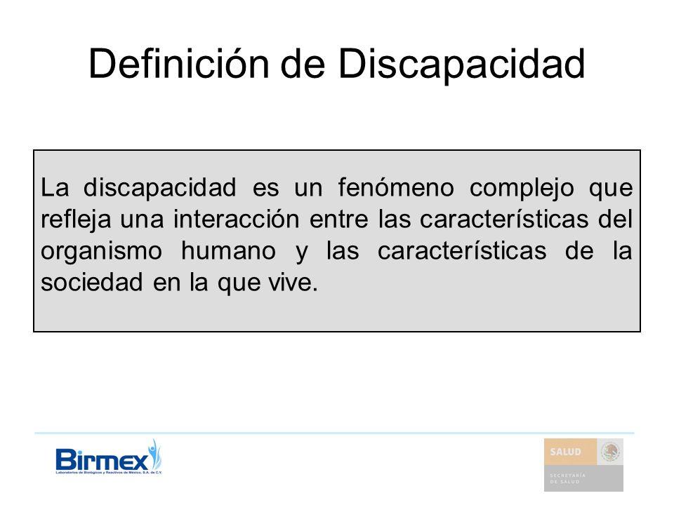 Definición de Discapacidad