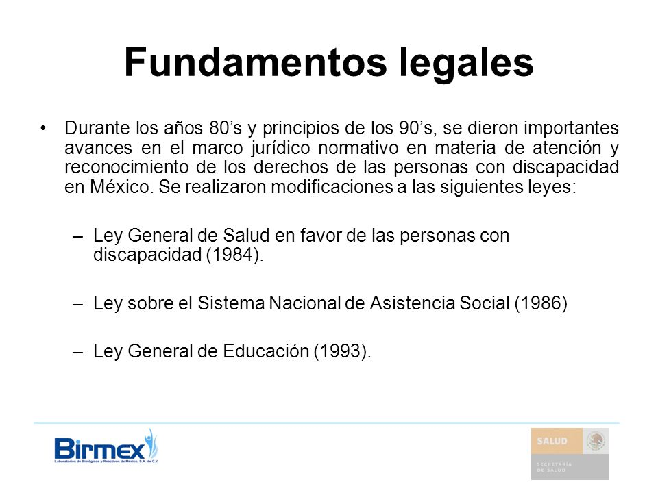 Fundamentos legales