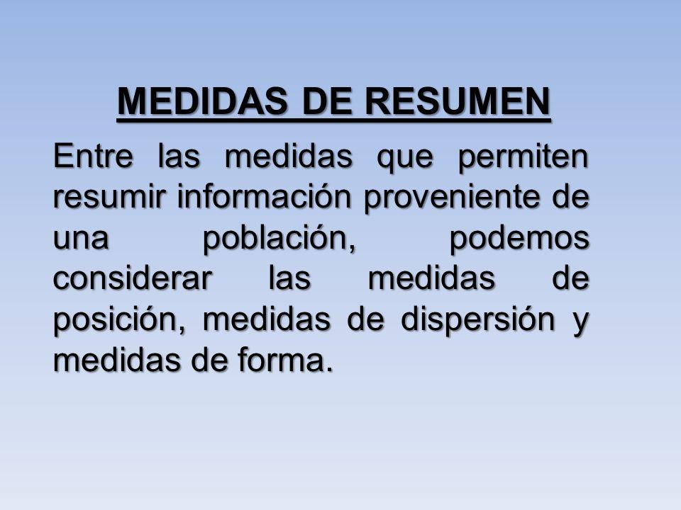 MEDIDAS DE RESUMEN