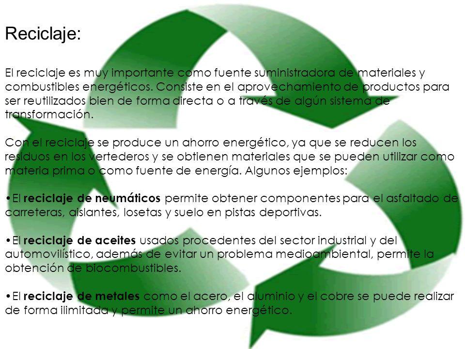 Reciclaje: