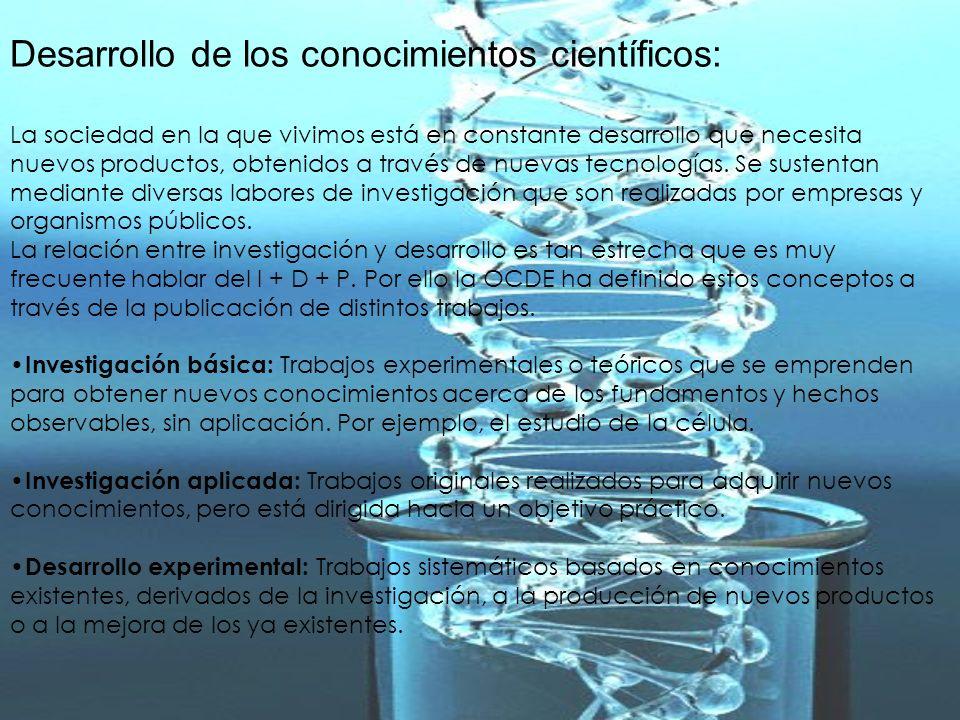 Desarrollo de los conocimientos científicos: