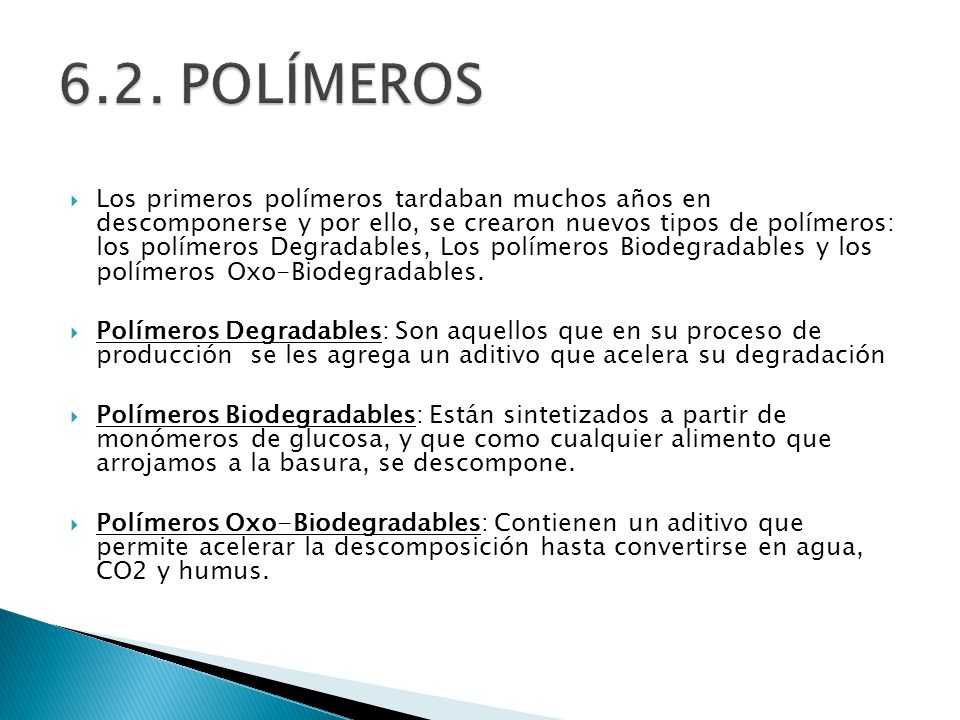 6.2. POLÍMEROS
