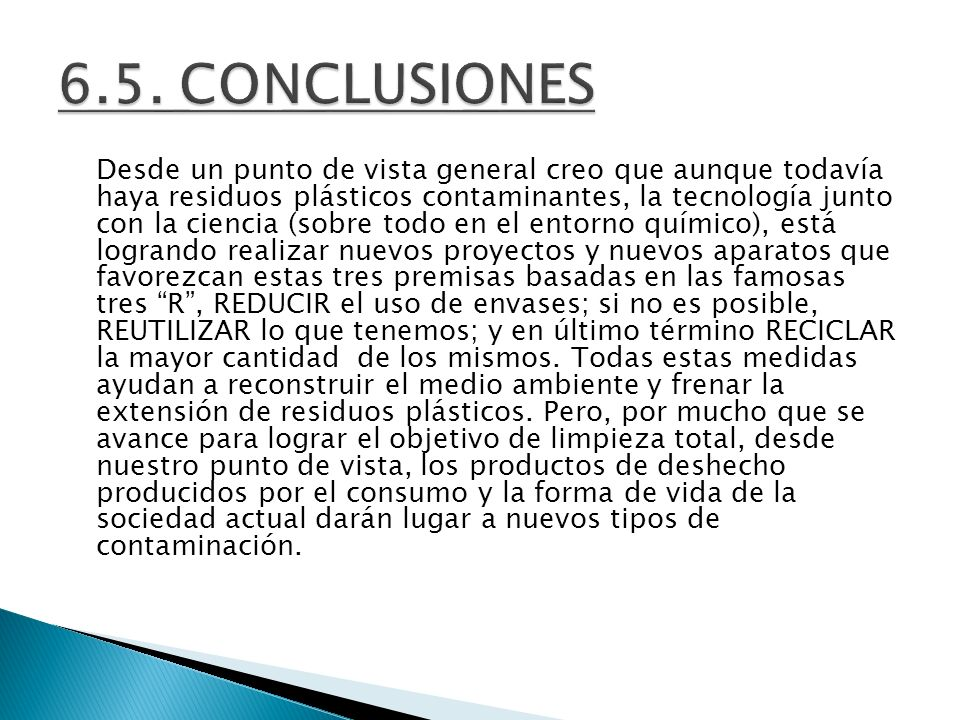 6.5. CONCLUSIONES