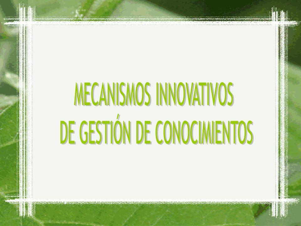 MECANISMOS INNOVATIVOS DE GESTIÓN DE CONOCIMIENTOS
