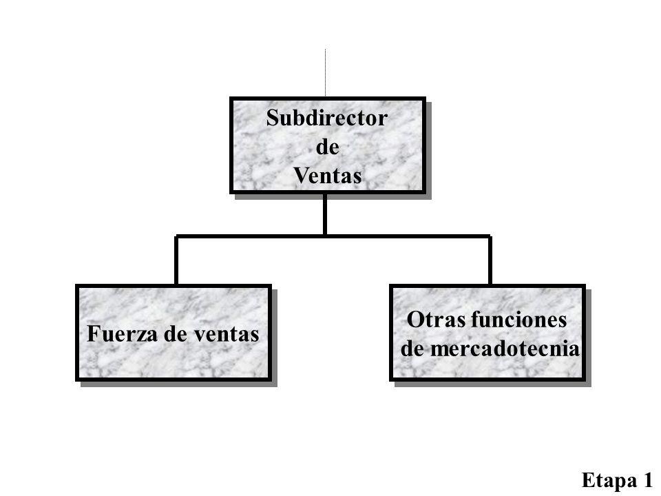 Subdirector de Ventas Otras funciones Fuerza de ventas