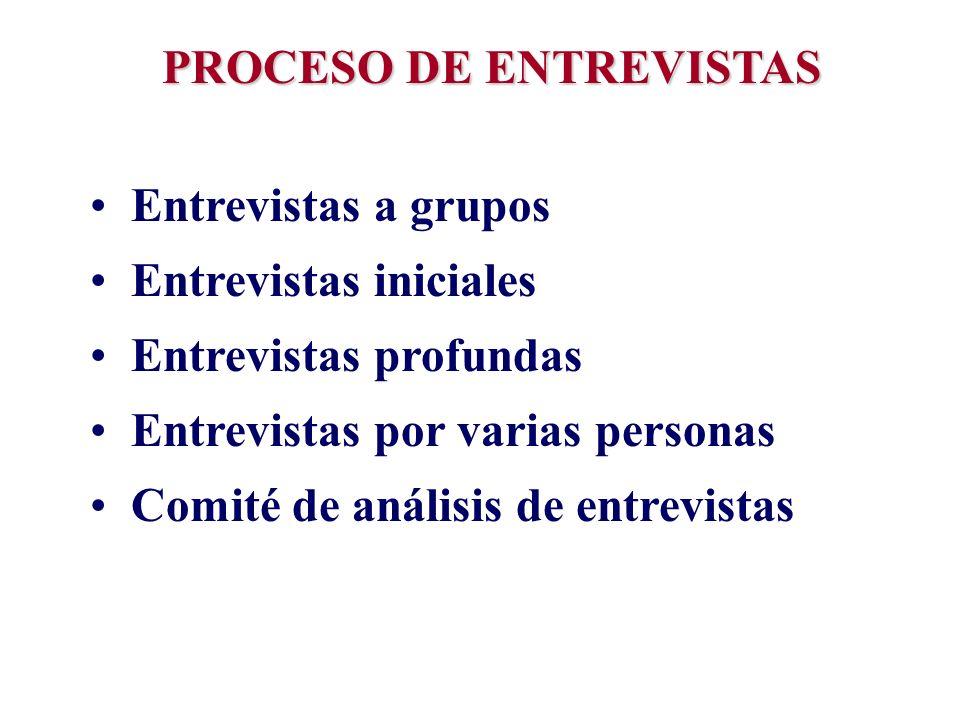 PROCESO DE ENTREVISTAS