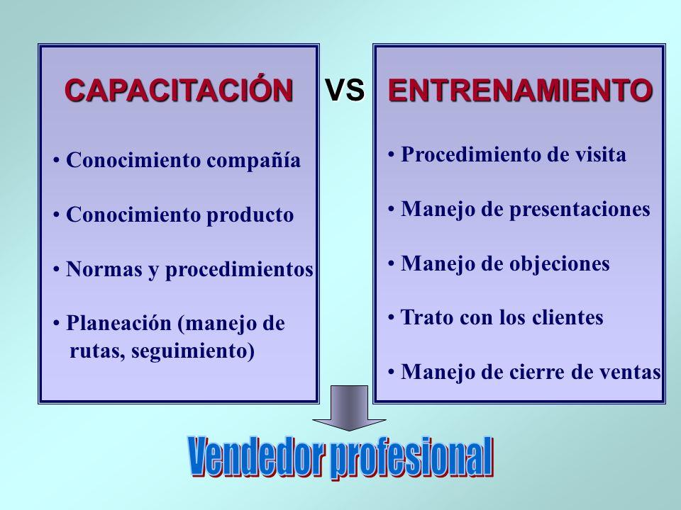Vendedor profesional CAPACITACIÓN ENTRENAMIENTO VS
