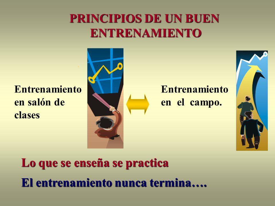 PRINCIPIOS DE UN BUEN ENTRENAMIENTO