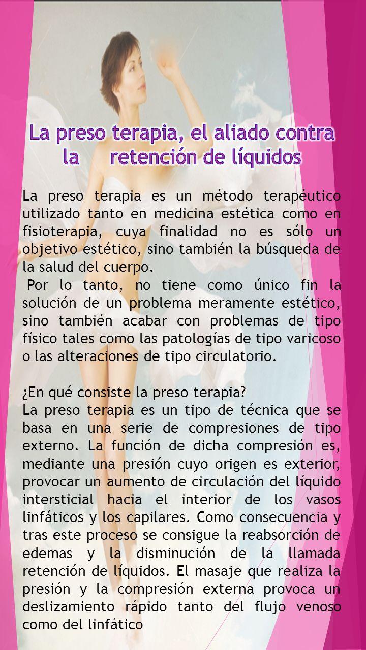 La preso terapia, el aliado contra la retención de líquidos