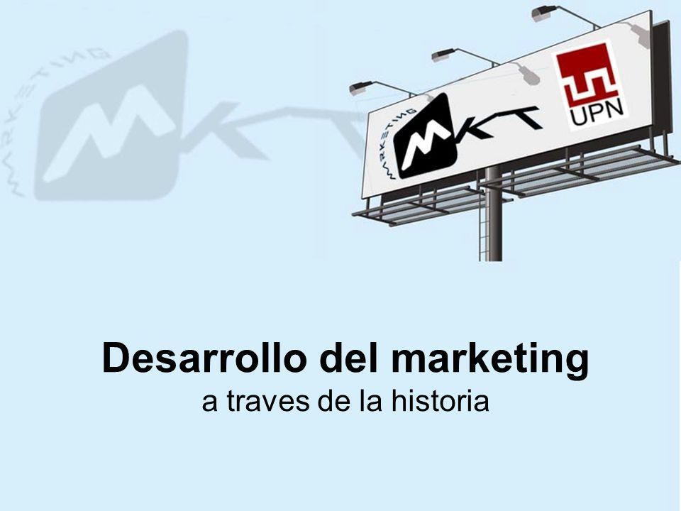 Desarrollo del marketing a traves de la historia
