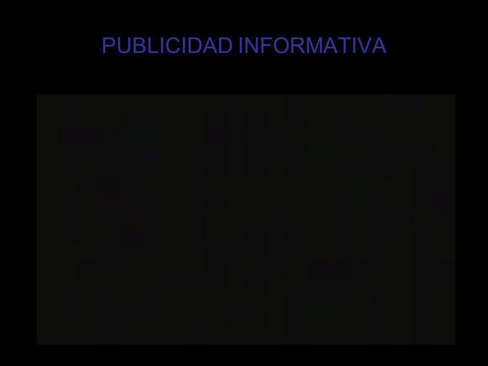 PUBLICIDAD INFORMATIVA
