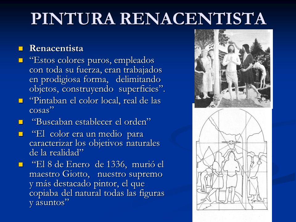 PINTURA RENACENTISTA Renacentista