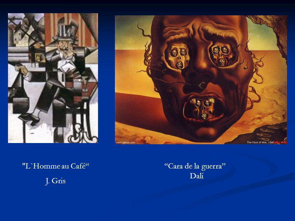 L`Homme au Café J. Gris Cara de la guerra Dalí