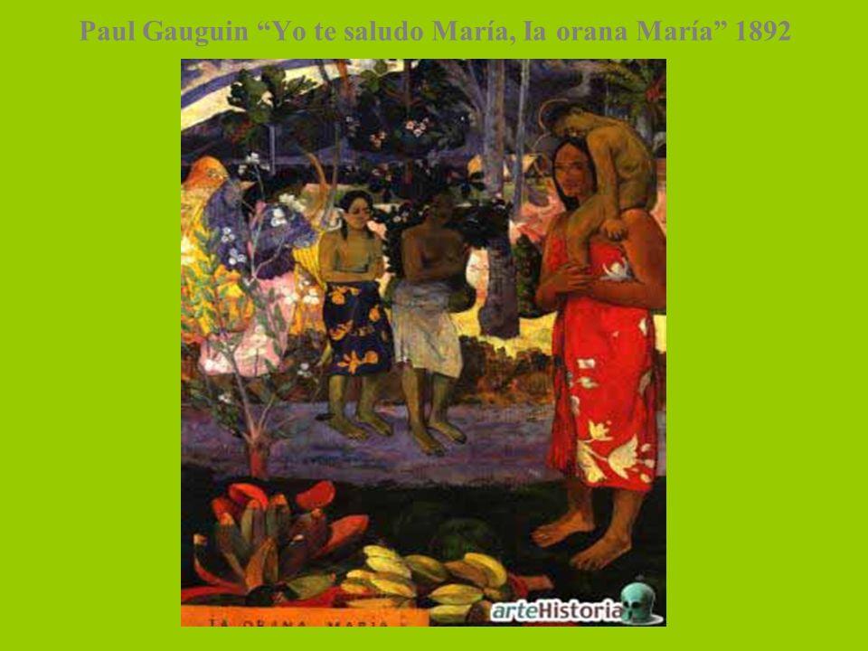 Paul Gauguin Yo te saludo María, Ia orana María 1892