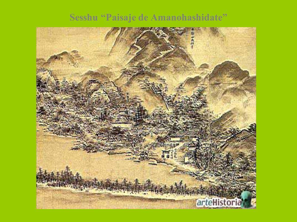 Sesshu Paisaje de Amanohashidate