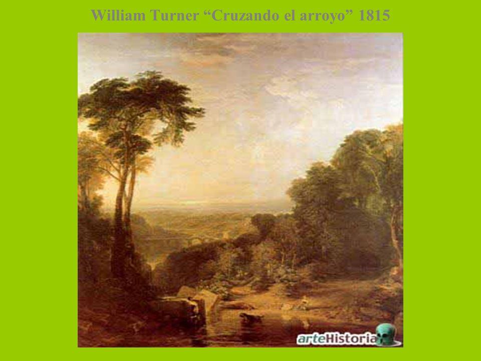 William Turner Cruzando el arroyo 1815