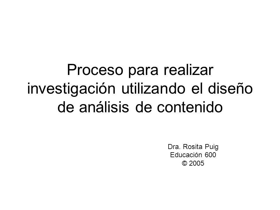 Dra. Rosita Puig Educación 600 © 2005