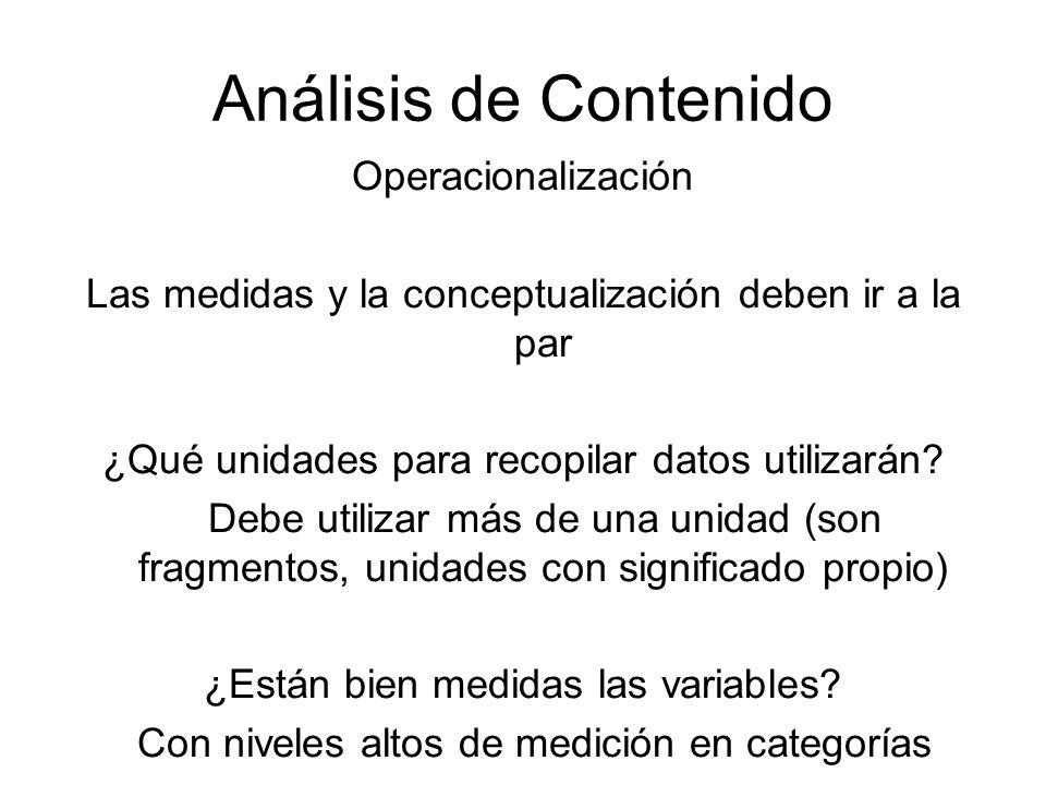 Análisis de Contenido Operacionalización