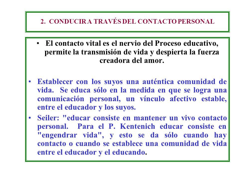 2. CONDUCIR A TRAVÉS DEL CONTACTO PERSONAL