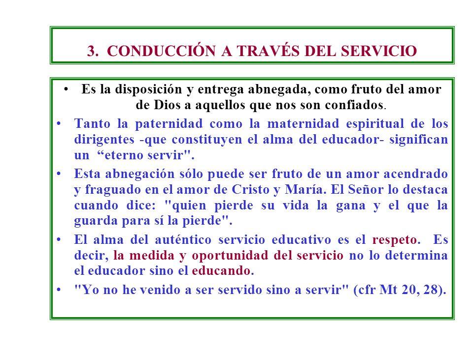 3. CONDUCCIÓN A TRAVÉS DEL SERVICIO