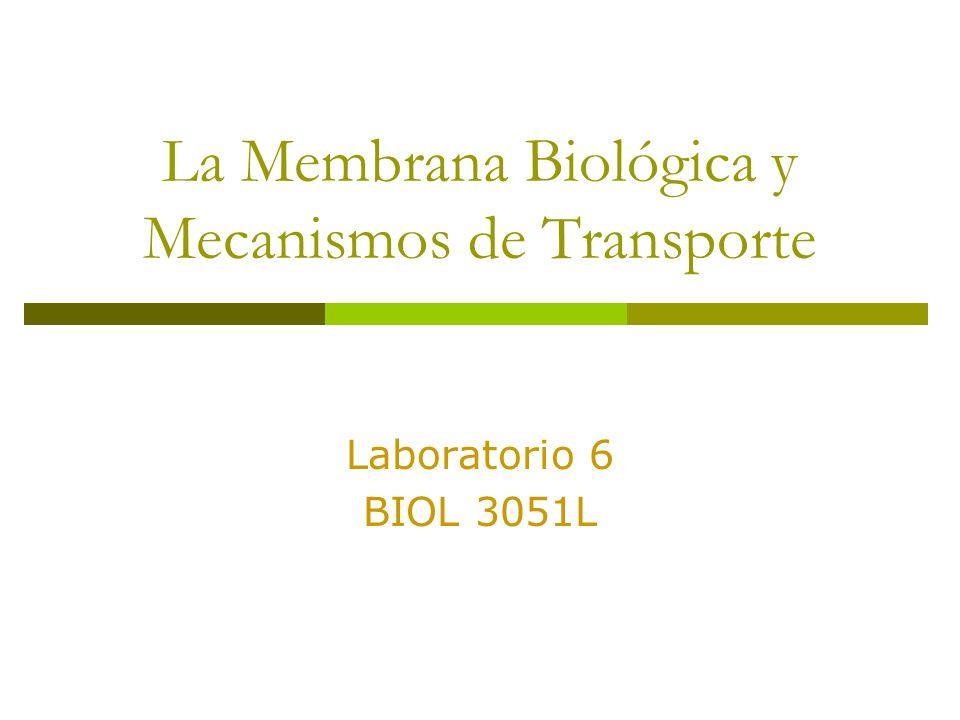 La Membrana Biológica y Mecanismos de Transporte