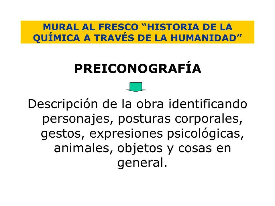 MURAL AL FRESCO HISTORIA DE LA QUÍMICA A TRAVÉS DE LA HUMANIDAD