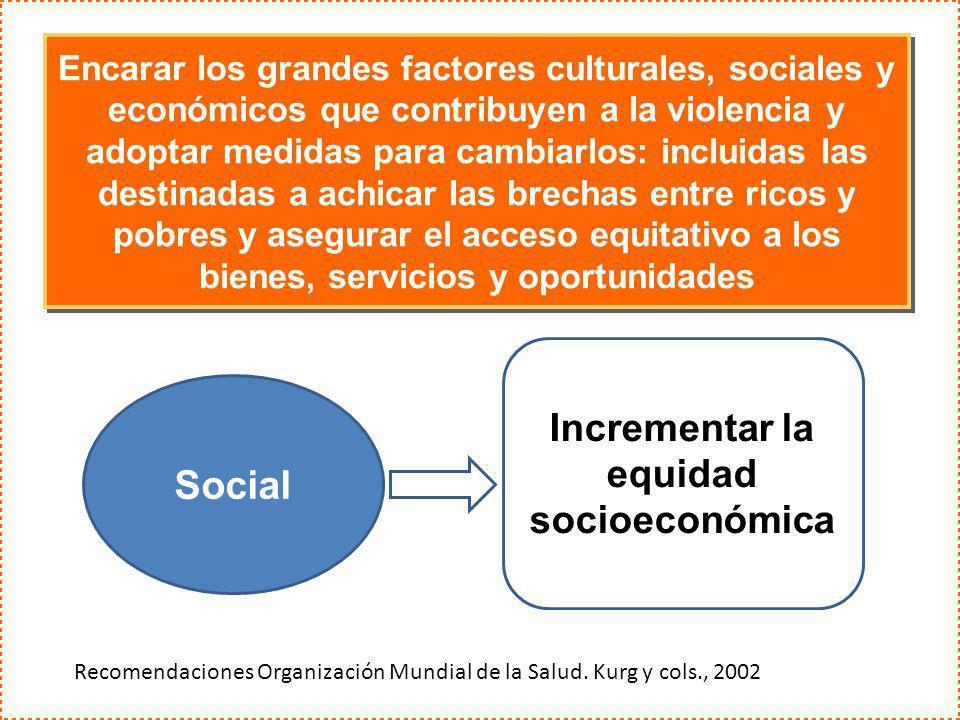 Incrementar la equidad socioeconómica