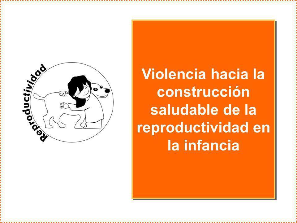 Violencia hacia la construcción saludable de la reproductividad en la infancia