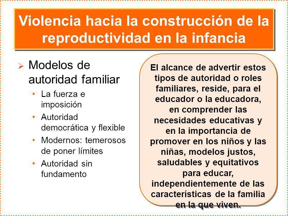 Violencia hacia la construcción de la reproductividad en la infancia