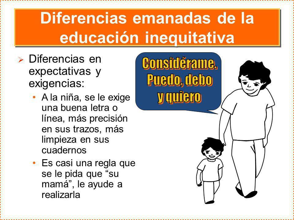 Diferencias emanadas de la educación inequitativa