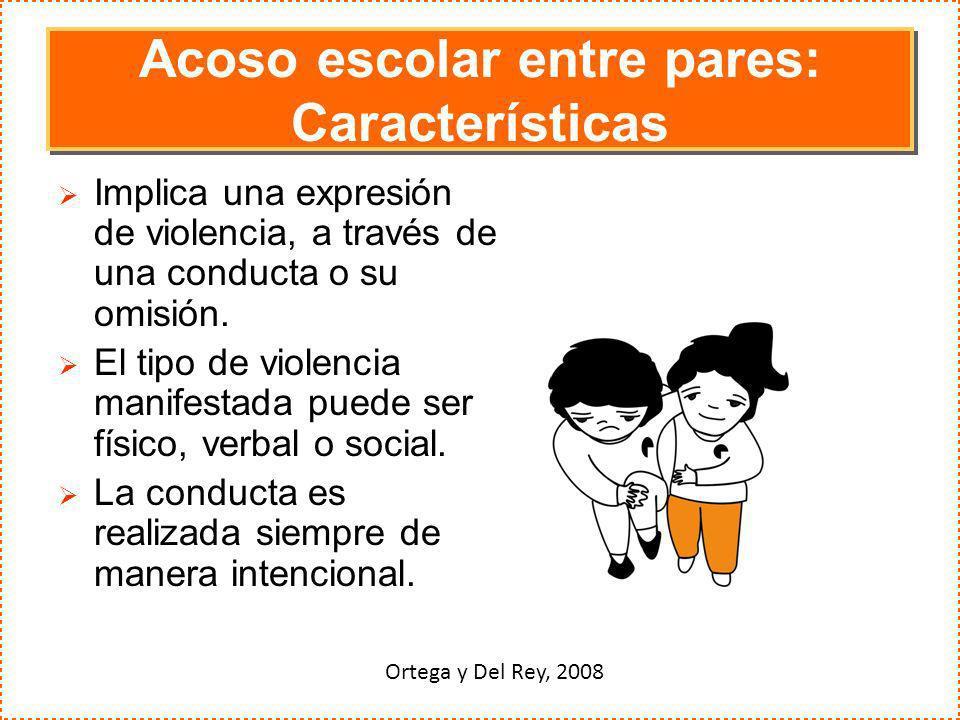 Acoso escolar entre pares: Características
