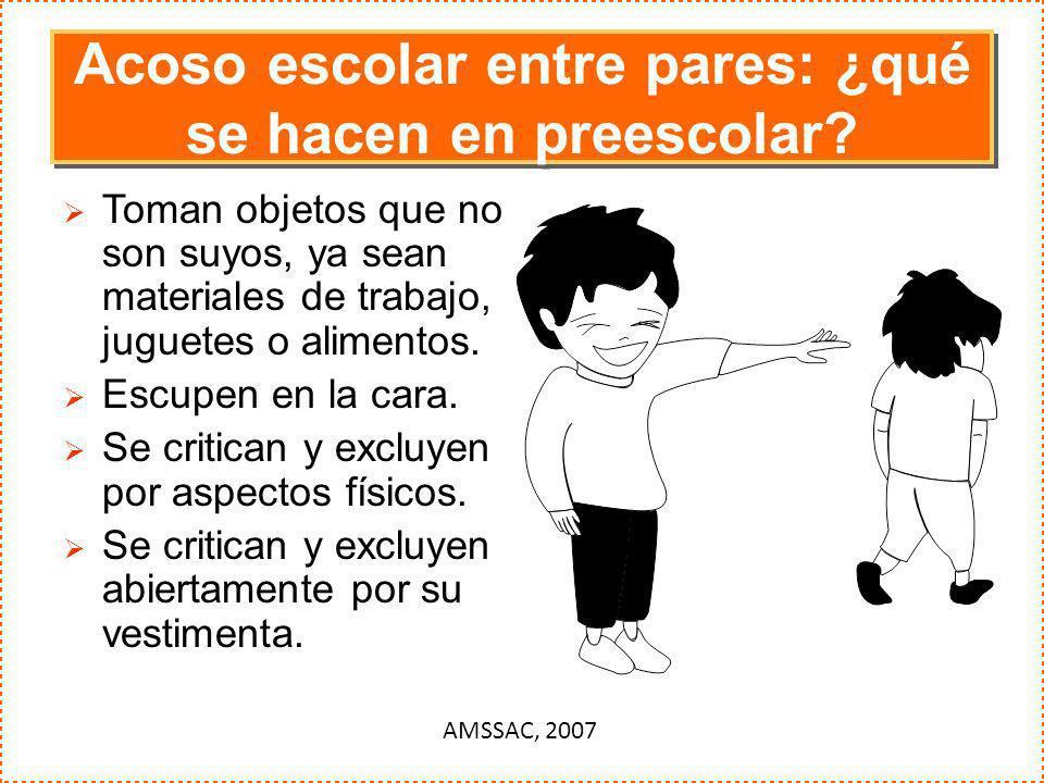 Acoso escolar entre pares: ¿qué se hacen en preescolar