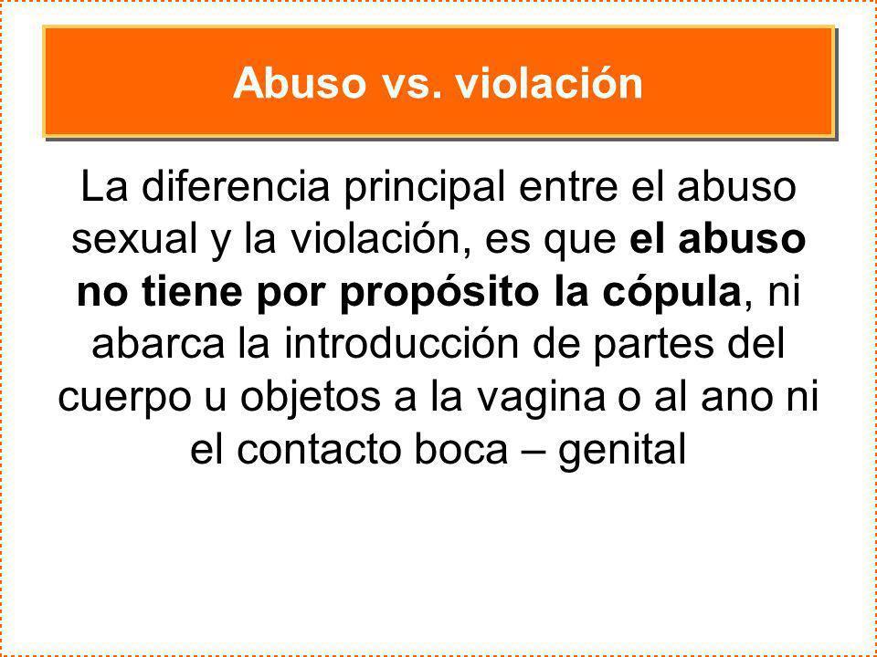 Abuso vs. violación