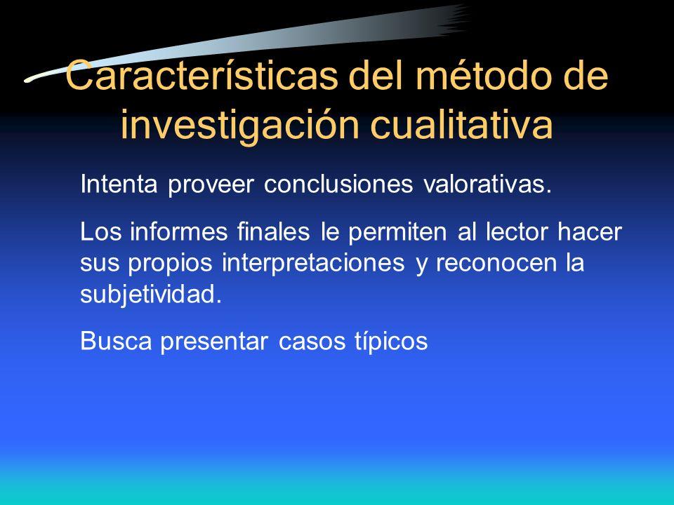 Características del método de investigación cualitativa