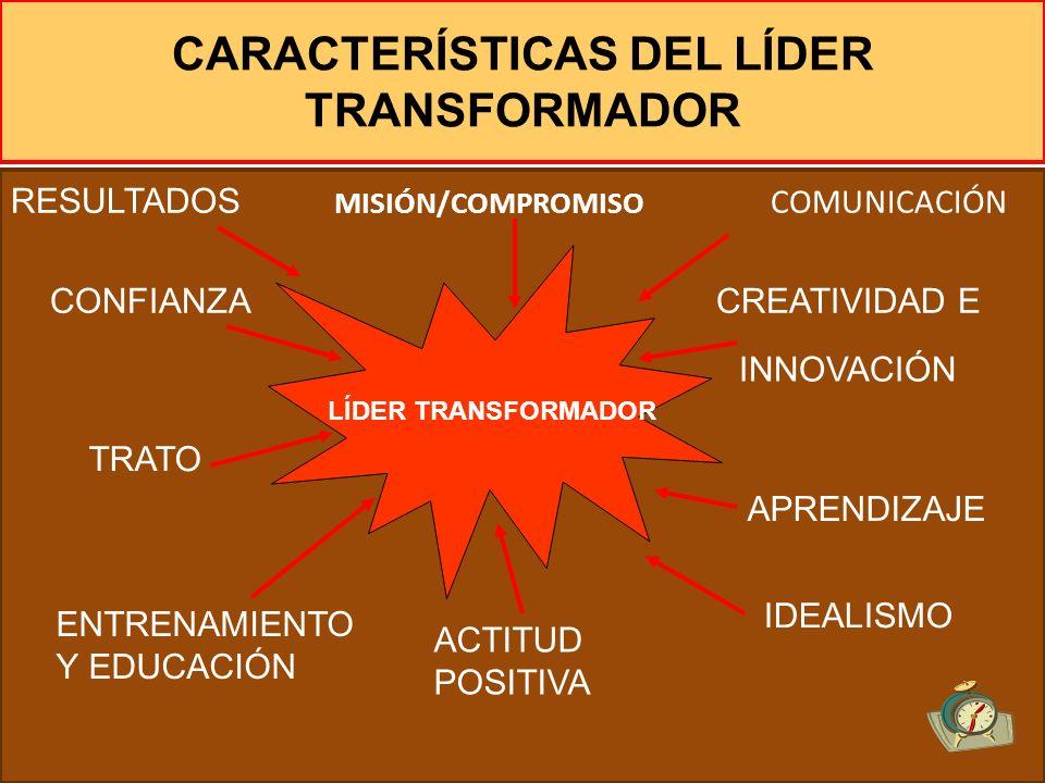 CARACTERÍSTICAS DEL LÍDER TRANSFORMADOR