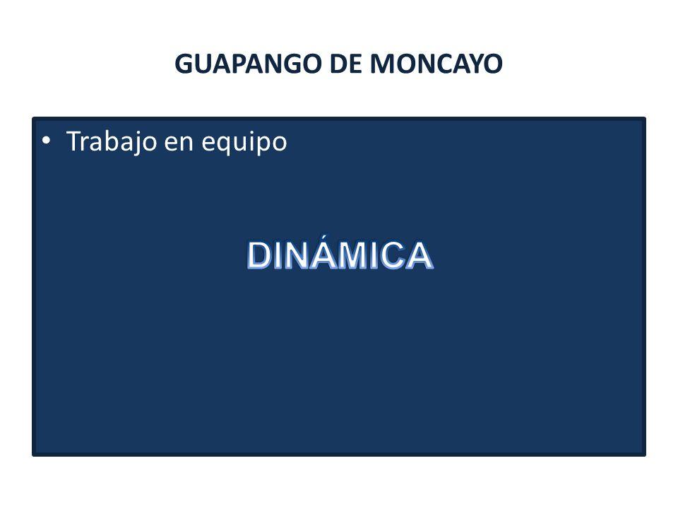 GUAPANGO DE MONCAYO Trabajo en equipo DINÁMICA
