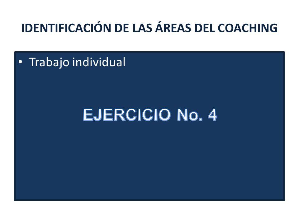 IDENTIFICACIÓN DE LAS ÁREAS DEL COACHING