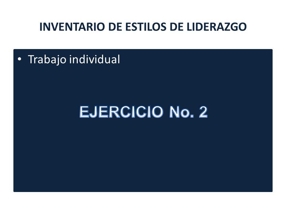 INVENTARIO DE ESTILOS DE LIDERAZGO
