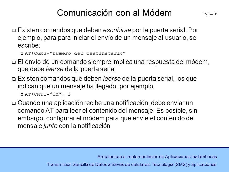 Comunicación con al Módem