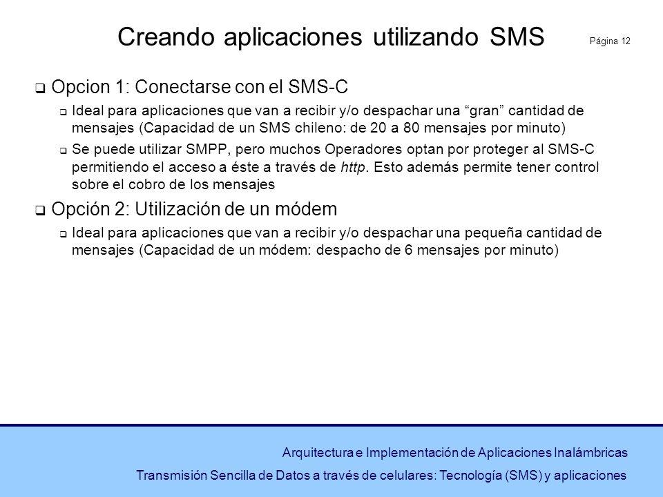 Creando aplicaciones utilizando SMS