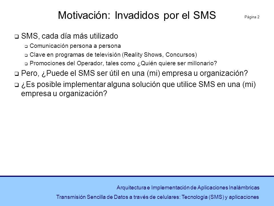 Motivación: Invadidos por el SMS