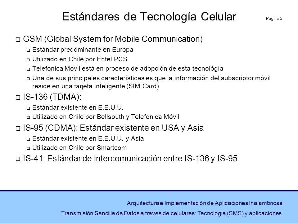Estándares de Tecnología Celular